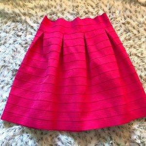 New York and Company Pink Bandage Pleated Skirt